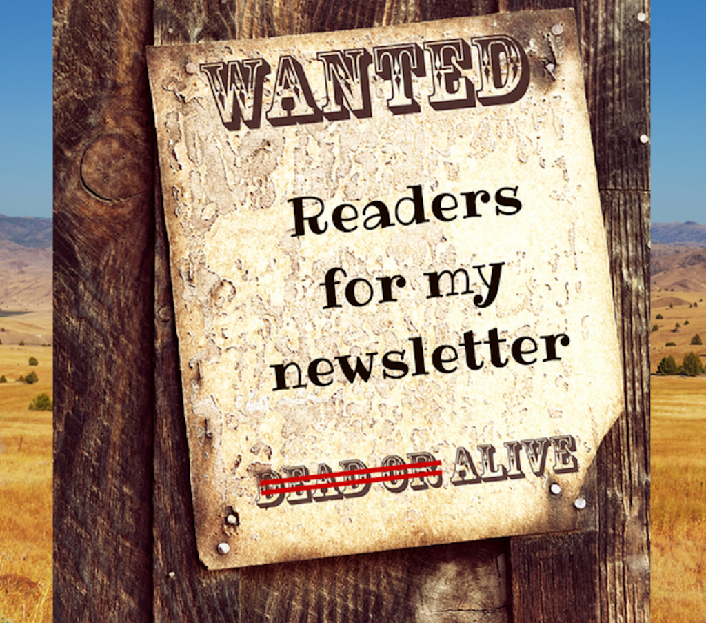 Click the wanted poster to keep up on my latest news
